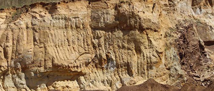 ungesiebter Quarzsand